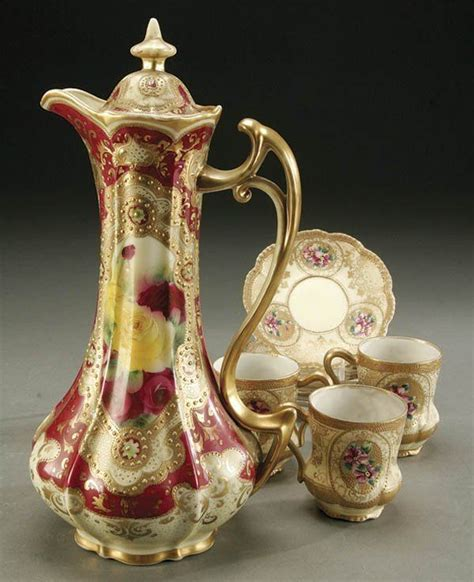 Nippon Set4 1000 images about antique pitchers chocolate sets lemonade sets and decanters on