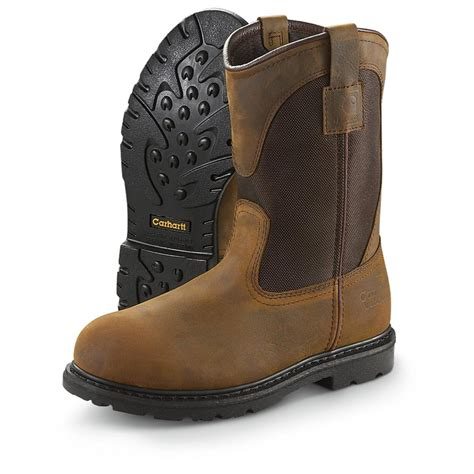 carhart boots s 11 quot 3910 carhartt 174 steel toe pull ons 209270