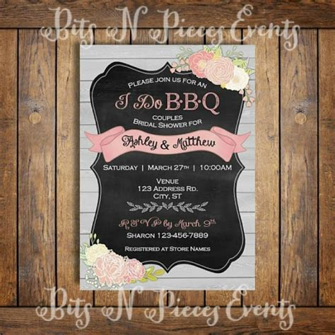 bbq themed wedding shower invitations i do barbeque couples bridal shower invitation bbq barn