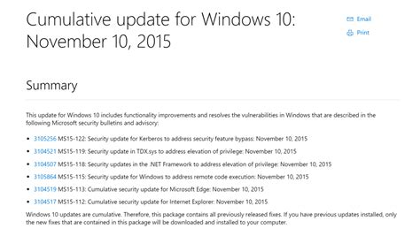 microsoft rolls out kb3116908 cumulative update for a new cumulative update for windows 10 is currently