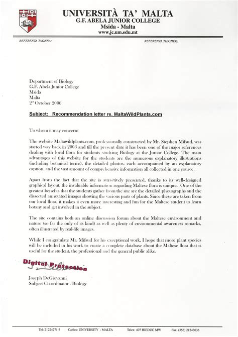 best photos of college reference letter examples college