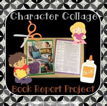 book report collage book report project character analysis collage book