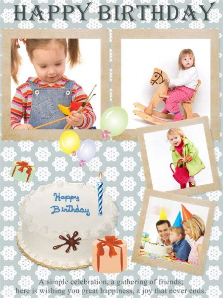 Birthday Collage Maker Make Happy Birthday Photo Collage From Hundreds Of Templates 1st Birthday Collage Template