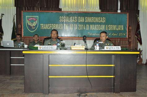 Transformasi Pendidikan Militer tni ad berita giat kodam ii swj sosialisasi transformasi tni ad