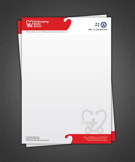 doctor letterhead template doctor letterhead design free printable letterhead