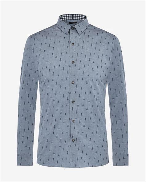 Tree Print Shirt tailored fit tree print shirt rw co