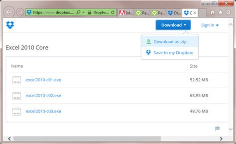dropbox zipped files download a program file from a dropbox link on a pc