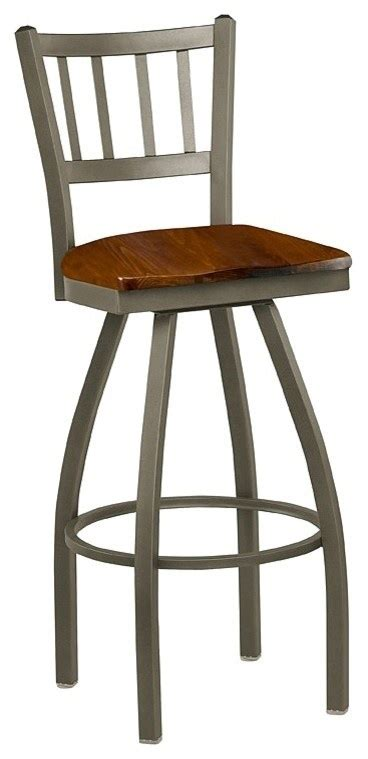 wooden swivel bar stools with back jailhouse back wood seat swivel stool traditional bar