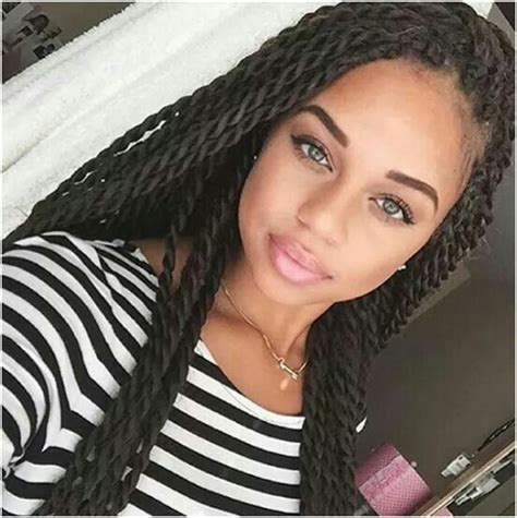 girl hairstyles with twists senegalese rope like twists try an identical look here