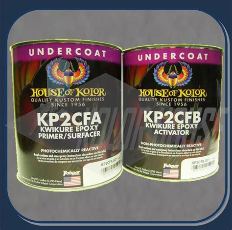 hoc kp2cfg house of kolor kwikure 2 part epoxy primer gallon kit part a part b