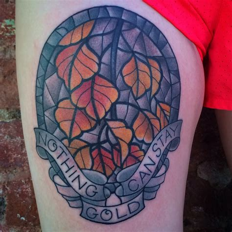 tattoos charlotte nc stained glass autumn leaves by jenn small at 510 expert