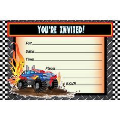 printable monster jam birthday cards monster truck invitations printable free andriesa
