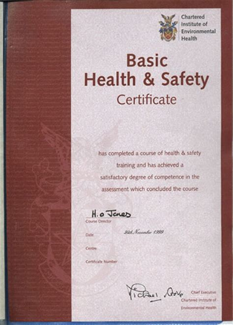 health and safety certificate template free manual handling certificate templatefree