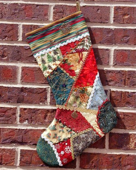 pattern for crazy quilt christmas stocking 1000 images about christmas stockings on pinterest wool