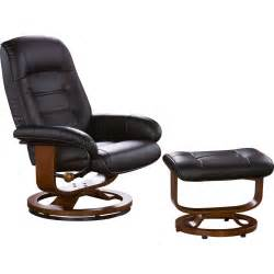barrel studio new republic leather ergonomic recliner