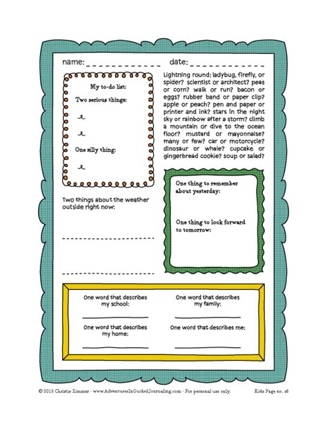 printable guided journal pages adventures in guided journaling march 2014
