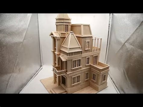 building popsicle stick mansion popsicle stick house