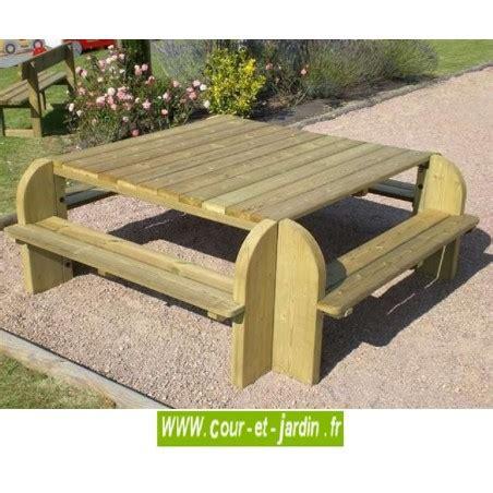 banc de picnic en bois table picnic bois table pique nique avec banc bancs