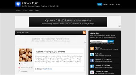 templates blogger premium news tut seo adsense friendly premium blogger template