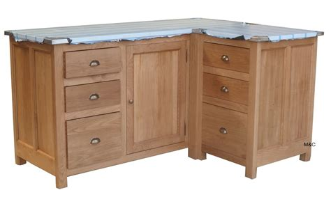 meuble de cuisine d angle en chene ou pin massif