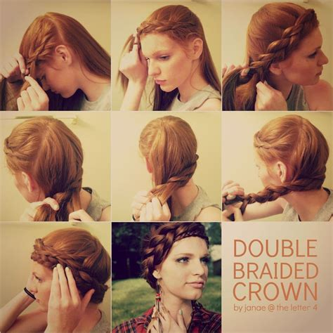 how to cut womens hair with double crown hair tutorial double braided crown by janae at the letter 4