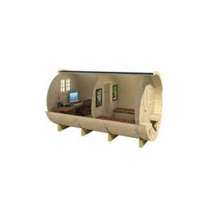 chalet bureau de jardin tonneau en kit bois chambre table