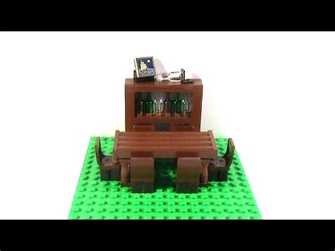 lego tutorial room tutorial lego dining room table and china cabinet youtube