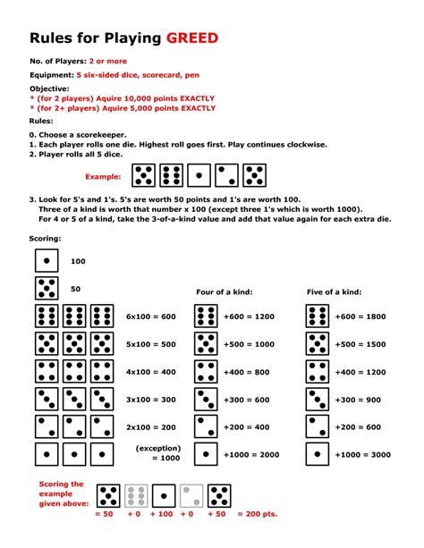 printable rules for farkle dice game dice game greed travelin with jc