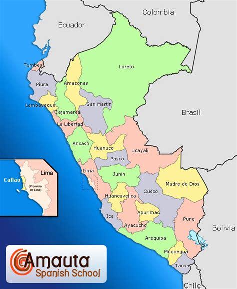 peru on the map maps of peru peru overview