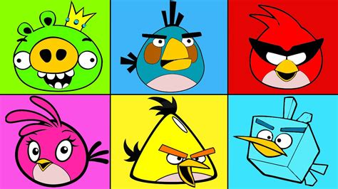 angry birds coloring mix for children coloring for angry birds