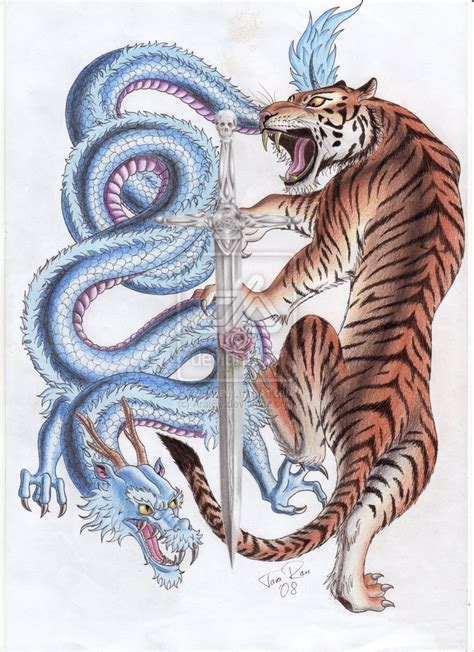 color tiger tattoo designs tiger and color design