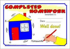 homework certificates sb3191 sparklebox
