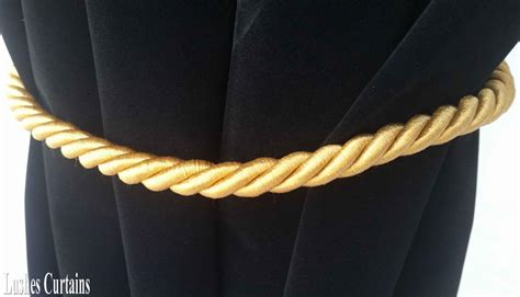 curtain cord large gold window treatment curtain drape 36 quot long rope