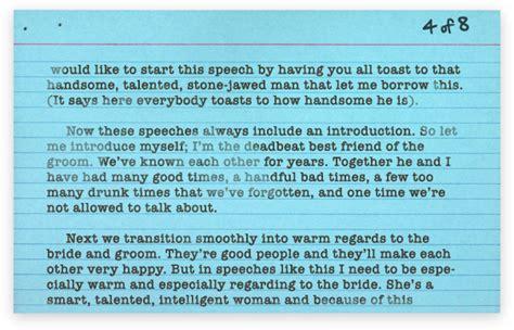 best speech a heartfelt best man s speech that i stole from the