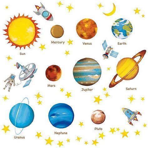 Deko Sticker Weltraum by Wandsticker Planeten Sterne Weltraum Tapetenwelt