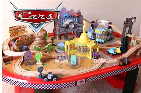 kidkraft disney cars table cars 1 radiator springs race track and table wooden