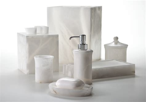 white bathroom set labrazel alabaster bath accessories alisa white