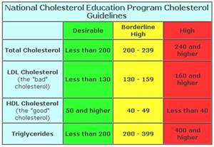 Cholesterol level scale total cholesterol