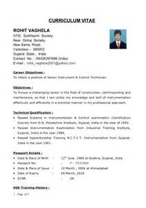 resume format for diploma mechanical engineers freshers