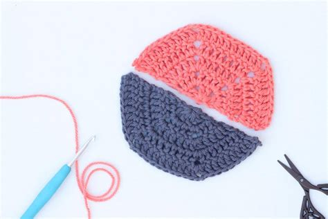 crochet how tutorial how to crochet a half hexagon make do crew
