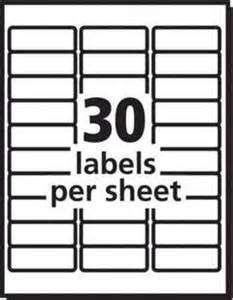 officemax label template avery repositionable white laser address labels 1 x 2 58