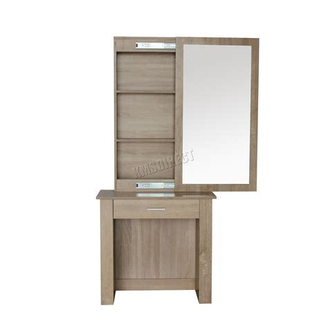 For Dressing by Foxhunter Wooden Makeup Jewelry Dressing Table With