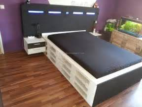 bed made out of wooden pallets pallet furniture projects