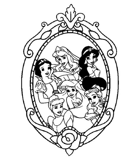 disney princesses coloring page coloring home