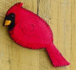 felt cardinal on a snowy afternoon downeast thunder farm