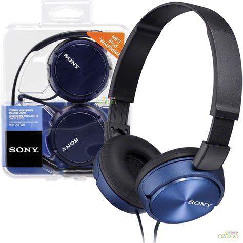Headphone Sony Zx310 sony mdr zx310 on ear foldable lightweight dj style headphones blue ebay