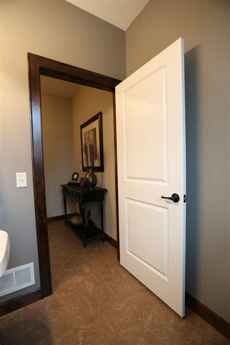 interior doors  panel white molded door  dark