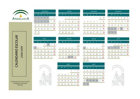 Calendario Agosto 2008 C E I P Sacratif 187 Calendario Escolar Curso 2008 2009