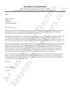 cover letter for experienced teachers substitute cover letter sle and
