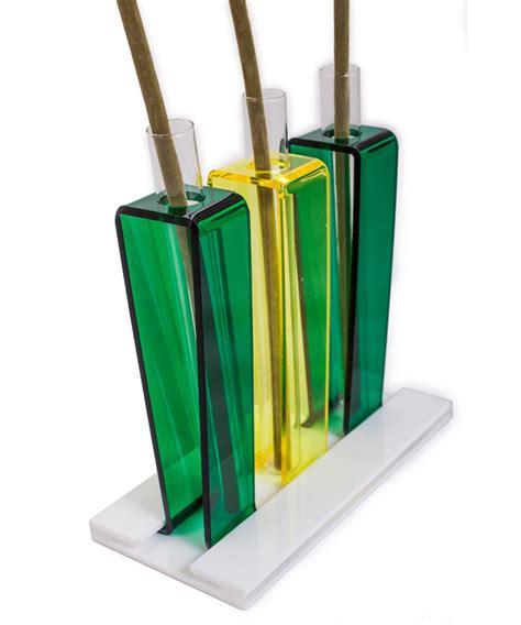 vasi plexiglass vasetti monofiore dune tris in plexiglass colorato
